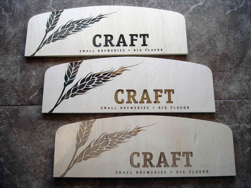 Craft Leaf Laser Engraved Signs